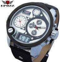 EPOZZ Merk nieuwe quartz horloge voor mannen sport grote dial oulm horloges toevallige mannelijke geïmporteerd waterdicht 30 M digitale klok 2305
