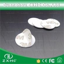 (1000 pcs) 25mm 125 khz rfid 카드 id 3 m 스티커 동전 카드 tk4100 칩 호환 em4100 액세스 제어