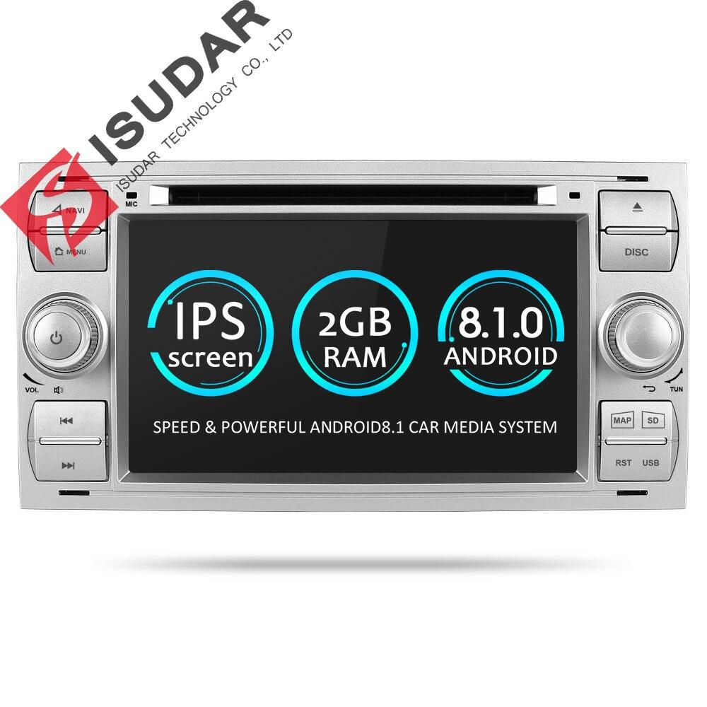 Isudar Lecteur Multimédia Android 8.1 Lecteur DVD De Voiture Deux Din 7 pouce Pour Ford/Focus/Mondeo/C-MAX /S-MAX/Fiesta SPG Radio