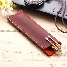 Case Pencil-Bag-Holder Vintage No for Notebook Retro-Style-Accessories Rustic Handmade