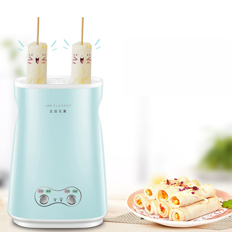 220V Electric Household DIY Electric Automatic Rising Double Egg Roll Maker Cooking Tool Egg Cup Omelette Master Sausage Machine