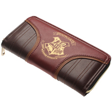 Harry Potter wallet Zip letter around wallet pu long fashion women wallets Designer brand handbag Lady Party card holder Women's