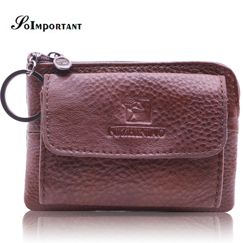 Genuine Leather Coin Purses Women Small Change Money Bags Pocket Wallets Female Key Chain Holder Case Mini Pouch Card Men Wallet cute cats coin purse pu leather money bags pouch for women girls mini cheap coin pocket small card holder case wallets