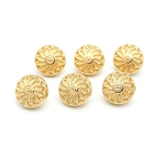 50pcs Buttons for Clothing High-grade Fashion Golden 10mm Round Metal Coat Button Sewing Accessories