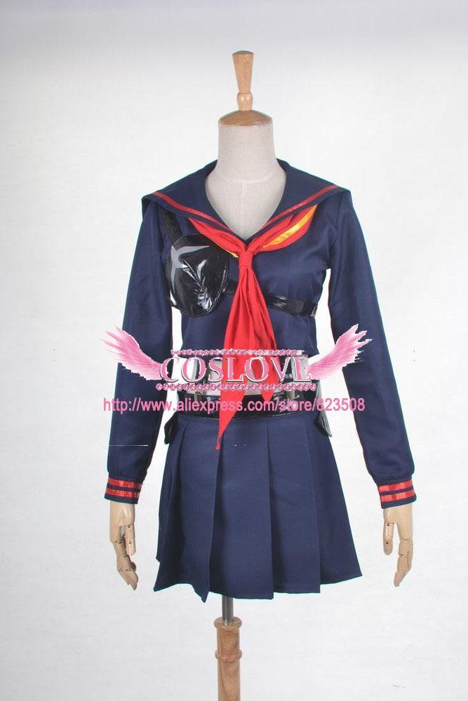 2017 Kill la Kill Ryuko Matoi Cosplay Costume Girl Daily School Uniform Any Size Custom Made