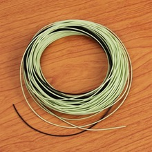5/6/7/8/9WT 100FT Moss Green Fly Fishing Line with Sink Tip Braided Dacron Backing Line Tapered Leader Nylon Tippet Loop