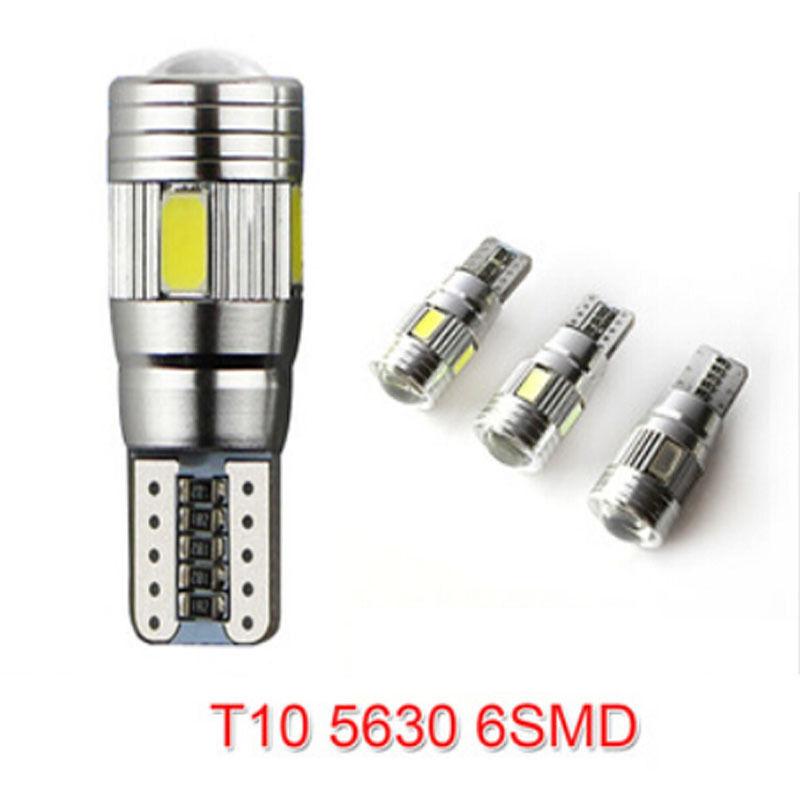 New 1pcs Xenon White LED Error Free Canbus 6SMD Side Wedge LED Light Bulb T10 194 168 W5W new 1 pcs canbus error free white 10 5630 smd led t10 car side wedge light lamp bulb