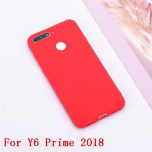 Image 2 - Y6 2018 Silikon Fall auf für Huawei Y6 Prime 2018 fall Weichen TPU Rückseitige Abdeckung Für Coque Huawei Y6 2018 Y 6 Prime 2018 Telefon Fällen