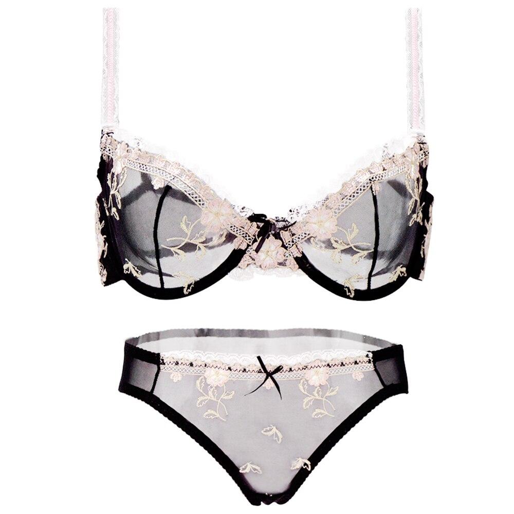 bras   panty Sales Separated lace bralette for women soutien gorge mesh floral 70 75 80 85 90 95 100 A B C D E F S M L XL XXL XXXL