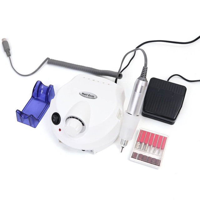30000RPM Professional Electric Nail Drill Machine Manicure White Nail Cutter Pedicure Equipment Nail Polish Accessory TRDR401