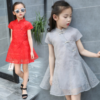 3 12Y Chinese StyleToddler Kids Baby Girls Summer Dress Organza Fashion Princess Party Pageant Mini Dresses