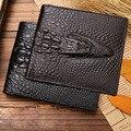 2017 de Cocodrilo cartera de piel de cocodrilo embrague monedero bolsillo oculto billetera hombres billetera billeteras de cuero masculinas porta moedas N4