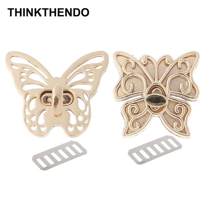 1PC DIY Turn Gold Tone Clasp Purse Accessories Bag Belt Twist Lock Butterfly1PC DIY Turn Gold Tone Clasp Purse Accessories Bag Belt Twist Lock Butterfly