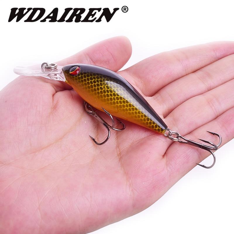 WDAIREN New Crankbait Fishing Lure 80mm 8.6g Minnow Wobblers Perch Floating Artificial Hard Bait Peche Carp Fishing Bait