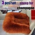2016 auto supply car seat cushion without a back Australia sheep fur cushion winter fashion plush cushion  seat single female