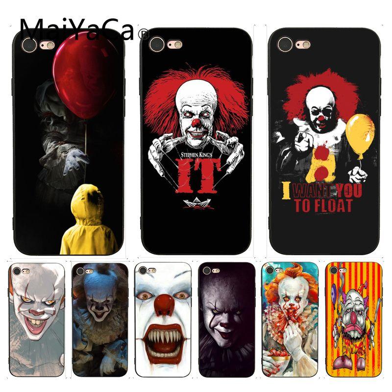 MaiYaCa Clown Float It Cartoon Comic Geometric Print Phone Accessories Case for