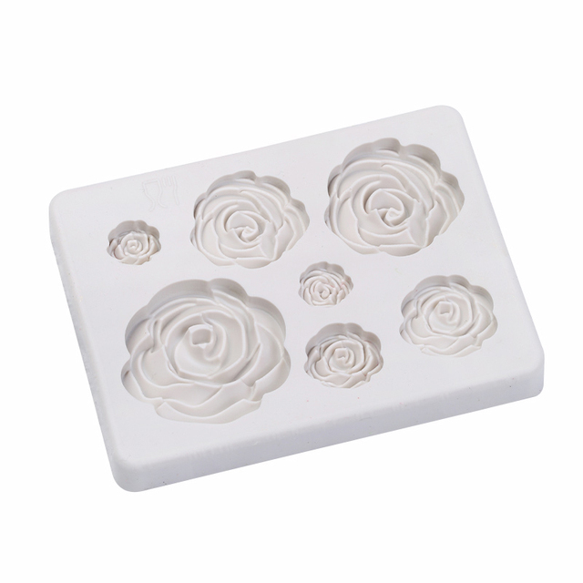 Rose Flower Mold Silicone Mold Wedding Cake Decoration Mould Kitchen   Cooking Tools Sugar Cookie Cake Decor