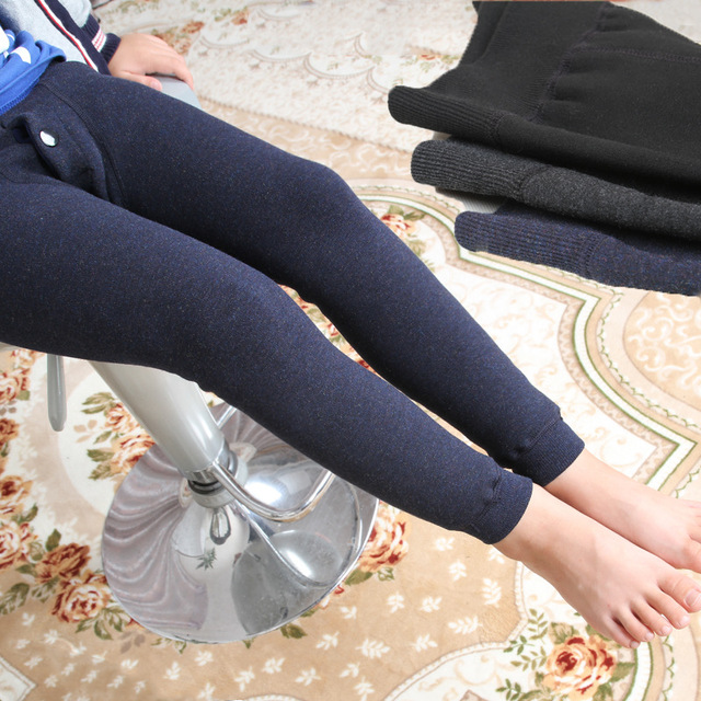 Зимние мальчики леггинсы детей брюки дети толстые теплые эластичные леггинсы талии мальчик штаны #315