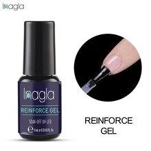 Inagla 8 мл усиленный гель для базового и верхнего покрытия, искусственная защита, усиленный светодиодный гель для ногтей, прозрачный гель, укр...