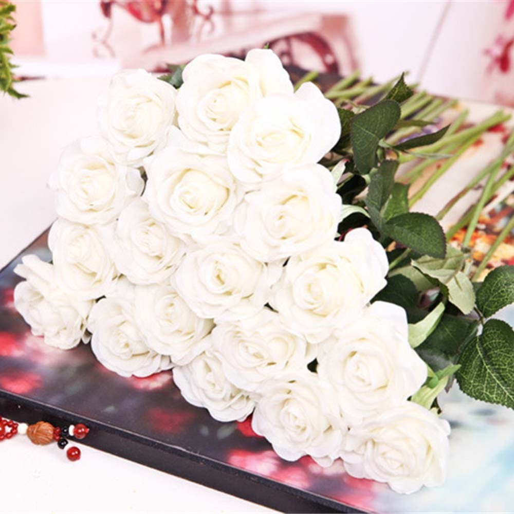 Aliexpress Buy 20pcs Artificial Latex Rose Flowers Real Touch