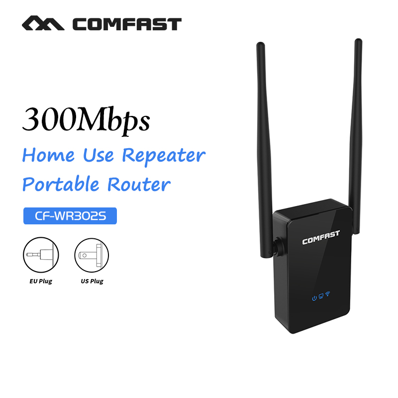 Shenzhen Comfast Network Technology Co., Ltd. WiFi Repeater 802.11N/B/G networking Range Expander 300M with dual 5dBi External Antennas Signal Boosters COMFAST CF-WR302S