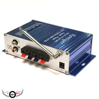 2 0 Channel 12V 20W Stereo USB Card Display Radio Small Amplifier MP3 FM AUX Computer