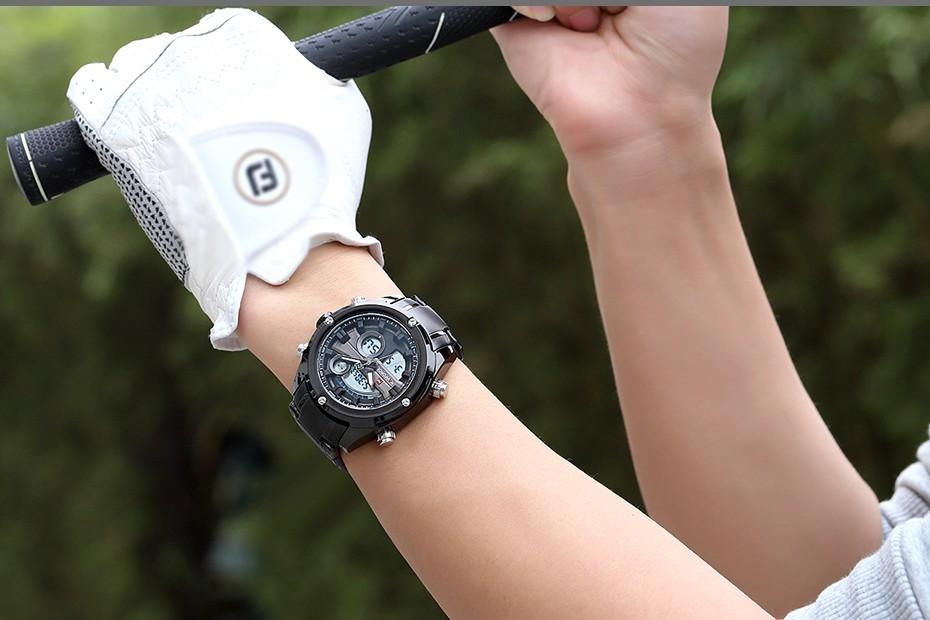 Top Luxury Brand NAVIFORCE Men Full Steel Sport Watches Men's Quartz Analog LED Clock Man Military Wrist Watch Relogio Masculino 13