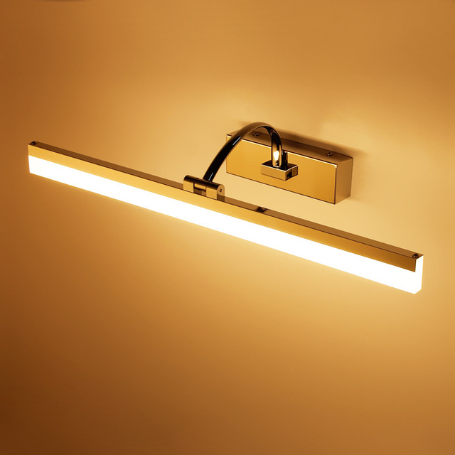 Stainless Led Mirror Light 40/50CM Bathroom Cosmetic Wall Lamp Indoor washroom Cabinet sconce lighting Waterproof Decoration