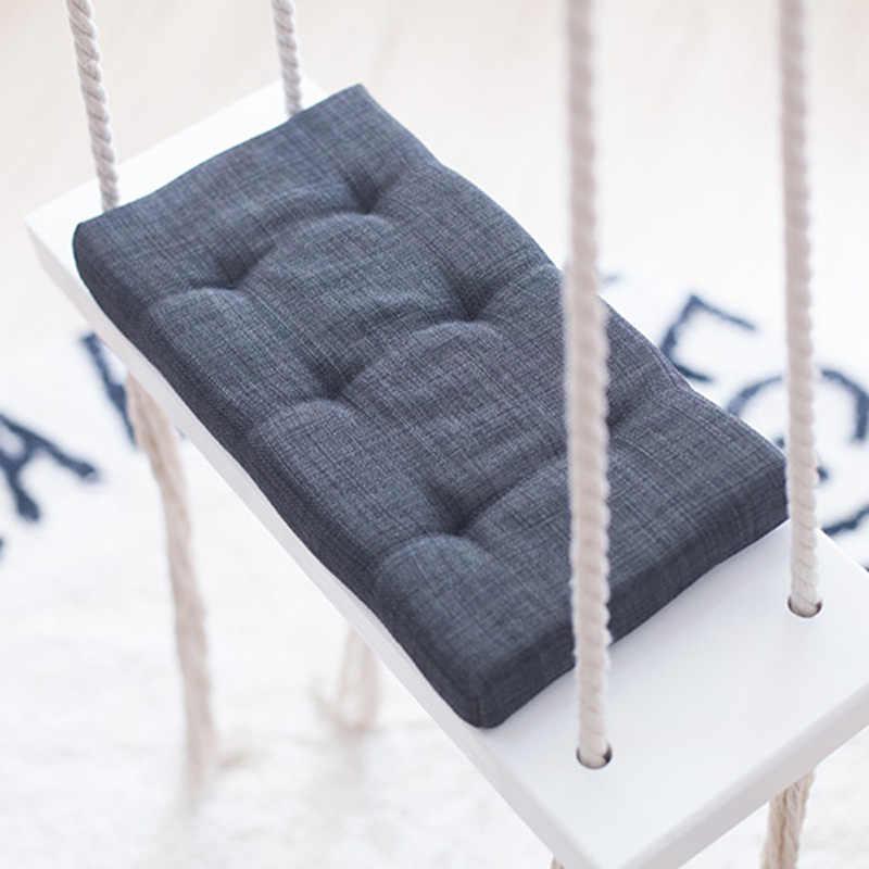 תינוק נדנדה כיסא תליית נדנדות סט ילדי צעצוע נדנדה מעץ מלא מושב עם כרית בטיחות תינוק Spullen מקורה תינוק חדר דקור