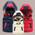 2017 Winter Kids Waistcoats Children Vest Warm Hooded Coat Infant sleeveless Jacket Cotton Kid Clothe Boy Girl Outwear