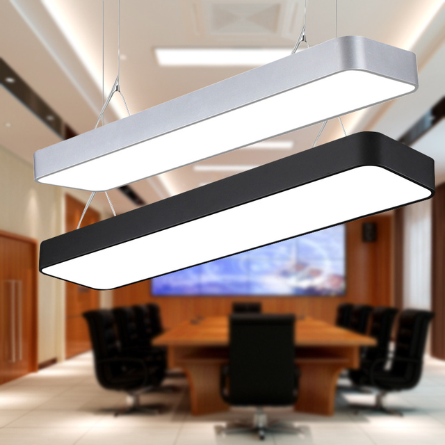 Office chandeliers led strip lights engineering shopping malls