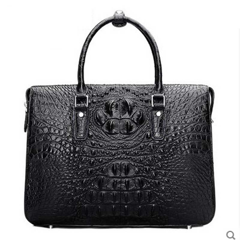 hlt thai crocodile skin Handbag male genuine leather goods single shoulder slant straddling high-end luxury business briefcase dadi1 dadi hlt 102