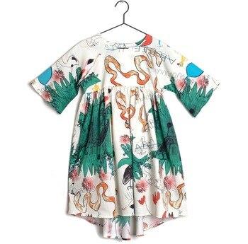 4a18c07ab 2019 Primavera Verano Lobo y RITA niños ropa vestidos para niñas ...
