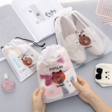 Bear Pencil Case School Office Supplies Kawaii Stationery Bag Estuches Chancery School Cute Pencil Box Cosmetic Bag Pen Bags dispalang kids mini pencil case box pen bags for school gold stars printing women cosmetic case children stationery pouch office