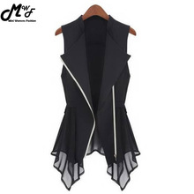 MWSFH Plus Size Long Vest Womens Spring Summer Outwear New Women Vest Coat Europe sleeveless Long Cardigan Top Jackets Outerwear