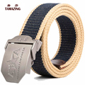 Plus Canvas belt male automatic buckle teenage outdoor casual knitted canvas strap pants belt length tactical belt