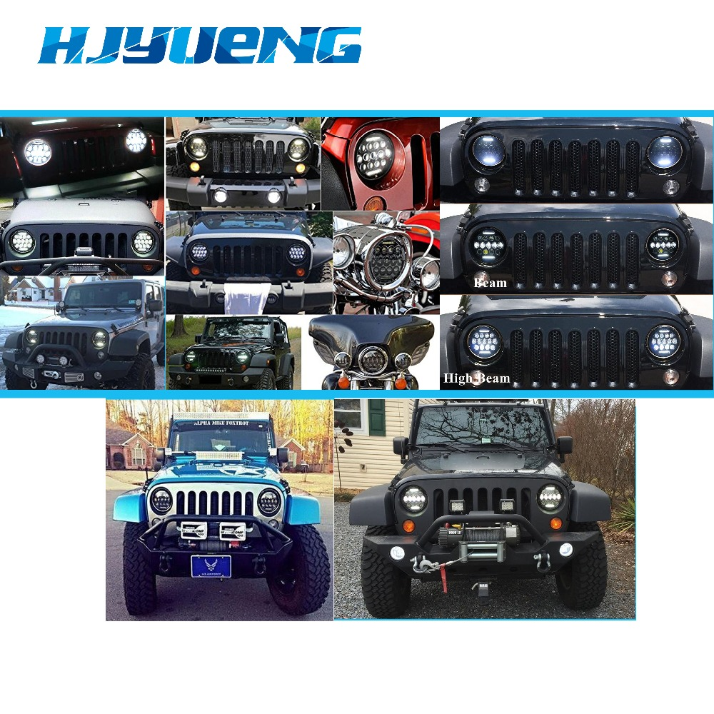 "Image 5 - HJYUENG For UAZ Hunter Suzuki Samurai LED Projector headlight 7"" LED headlamp Light Lamp 7inch For Lada 4x4 urban Niva-in Car Light Assembly from Automobiles & Motorcycles"