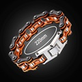 Boys Mens Friendship Link Chain Bracelet Biker Motorcycle Stainless Steel Bracelets&Bangles Brown Black Color Fashion Jewelry