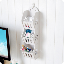 New Arrival,White Hollow Wooden Wall Shelf Holder Storage rack organizer home decor,Free shipping.