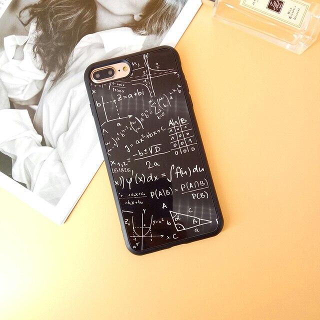 Formule mathématiques mathématiques étui pour iPhone 5 5 S 6 6 S Plus brillant miroir Funda Coque pour iPhone 7 8 Plus X étui en silicone souple