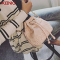 High Quality pu leather Chains Bucket Bag Women Lace Shoulder Bag Womens Messenger Bags Emboridery Small Crossbody Bags Handbags