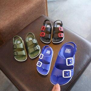 2019 sommer Jungen Leder Sandalen für Baby Flache Kinder Strand Schuhe Kinder Sport Weiche rutsch Beiläufige Kleinkind Sandalen 1-5 jahre