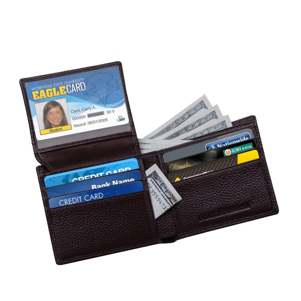 Fancystyle Mens Slim RFID Blocking Wallet Leather Purse