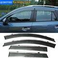 Stylingg Toldos Abrigos 4 pçs/lote Viseiras Da Janela do carro Para Mazda CX-5 2012-2016 Sol Chuva Escudo Adesivos Covers