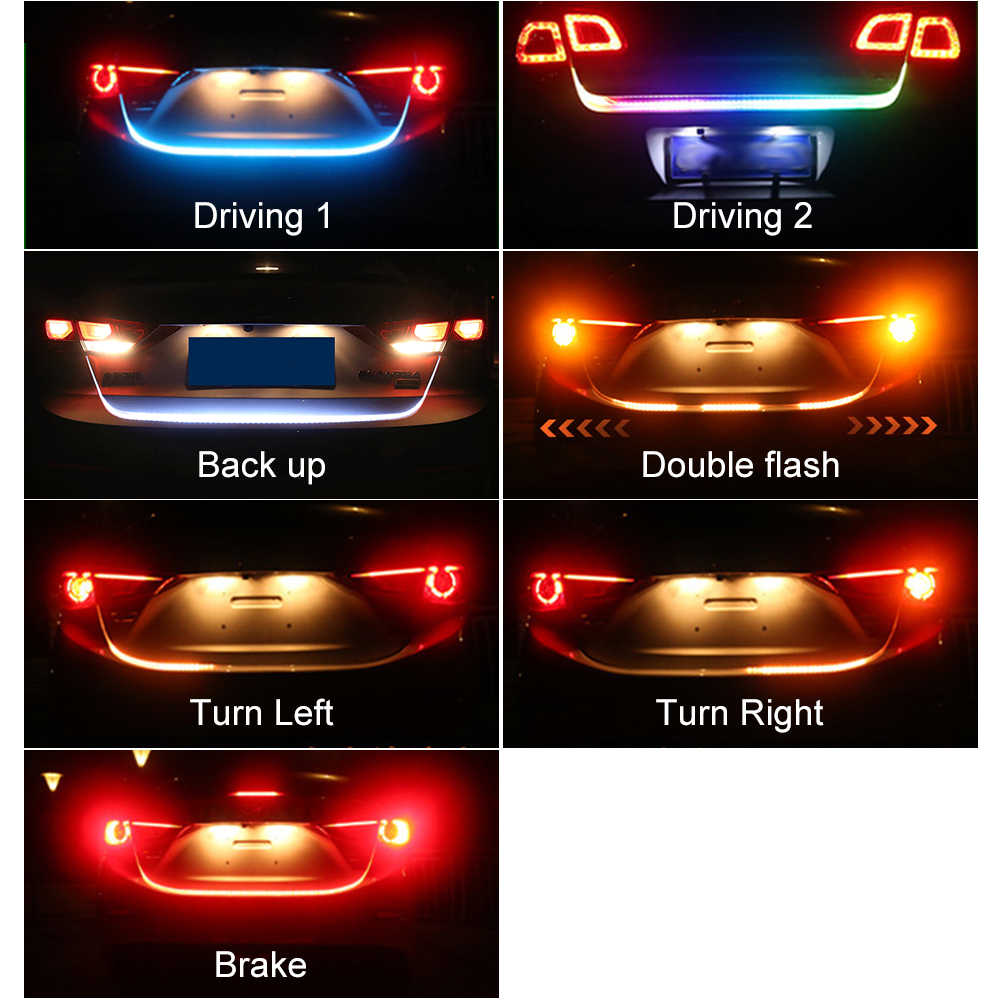Car Styling RGB Undercarriage Floating Led  trunk strip Light Luggage Compartment Lights Dynamic Streamer Turn Signal LED