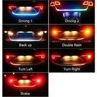 Estilo do carro rgb undercarriage flutuante led tronco luz de tira bagagem compartimento luzes dinâmicas streamer turn signal led