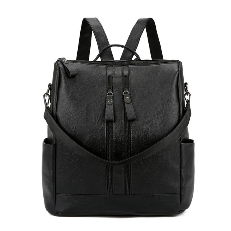 Leather Backpack Women Brand Laptop Female Bagpack High Qual