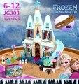 519 unids Amigo Arendelle Ladrillos Juegos de Bloques de Construcción del Castillo Princesa Anna Elsa Olaf juguetes Compatible Amigo