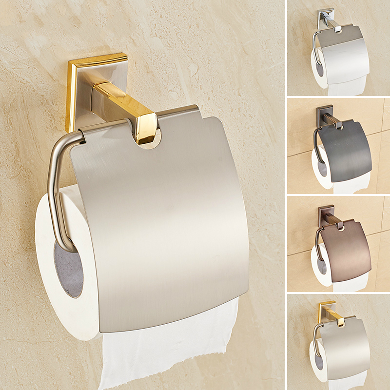 Modern Gold Black Silver Copper Polished Roll Holder Toilet Paper Antique Solid Br Tissue Box Bathroom Accessories Hy6 In Holders From Home