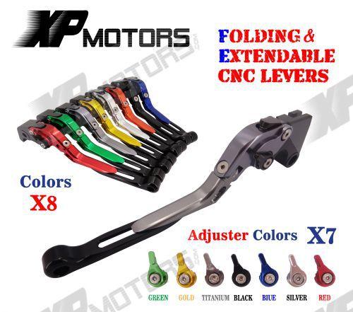 Adjustable Folding Extendable Brake Clutch Levers For Hyosung GT650R 2006-2009 billet alu folding adjustable brake clutch levers for motoguzzi griso 850 breva 1100 norge 1200 06 2013 07 08 1200 sport stelvio